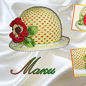Аксессуары ручной работы. Ярмарка Мастеров - ручная работа Летние панамки для маленьких и больших леди. Handmade.