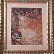 """Картины и панно ручной работы. Ярмарка Мастеров - ручная работа Картина """"Маленькая фея"""". Handmade."""