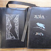 Подарки к праздникам handmade. Livemaster - original item EVE, the RAVEN book cover, leather. Handmade.