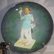 Тарелки ручной работы. Ярмарка Мастеров - ручная работа Тарелки: Дантист Декоративная тарелка. Handmade.