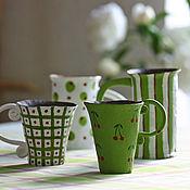 """Посуда ручной работы. Ярмарка Мастеров - ручная работа набор кружек """"Лето"""". Handmade."""