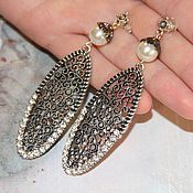 Украшения handmade. Livemaster - original item Vintage Sharman earrings