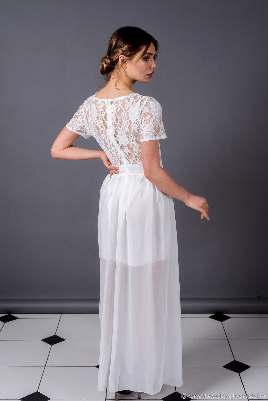 Платье с кружевным верхом Wedding dress for the sea, Платья, Москва,  Фото №1