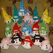 Куклы и игрушки ручной работы. Ярмарка Мастеров - ручная работа Тильда-снеговички. Handmade.