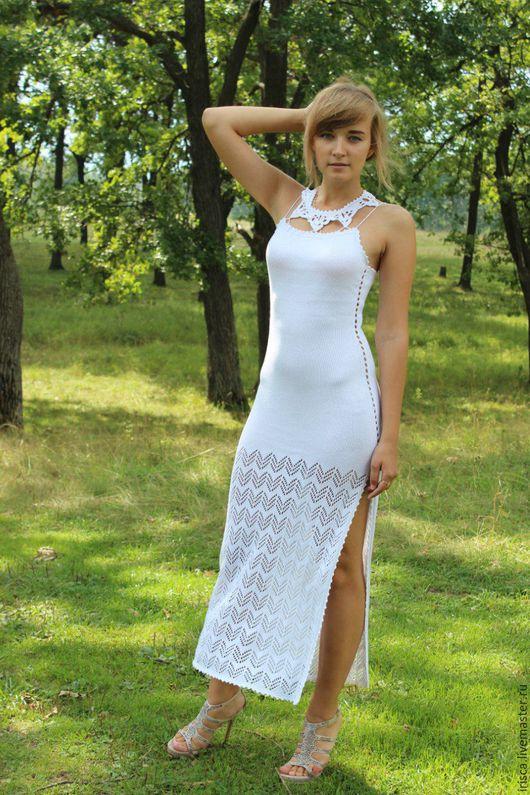 """Платья ручной работы. Ярмарка Мастеров - ручная работа. Купить Вечернее платье """"Звездочка"""". Handmade. Белый, платье в пол, распродажа"""