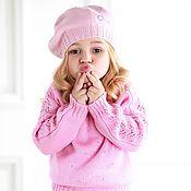 Работы для детей, ручной работы. Ярмарка Мастеров - ручная работа Розовый пуловер ручной работы. Handmade.