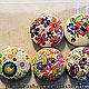 Открытки и скрапбукинг ручной работы. Заказать Пуговицы с цветочным рисунком 23 мм. ArtKoza (PandoraShop). Ярмарка Мастеров. Аксессуар