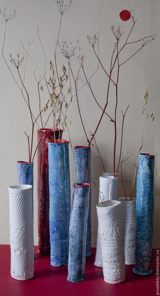 """Вазы ручной работы. Ярмарка Мастеров - ручная работа. Купить вазы """"Утро, день, вечер"""". Handmade. Комбинированный, ваза для цветов"""
