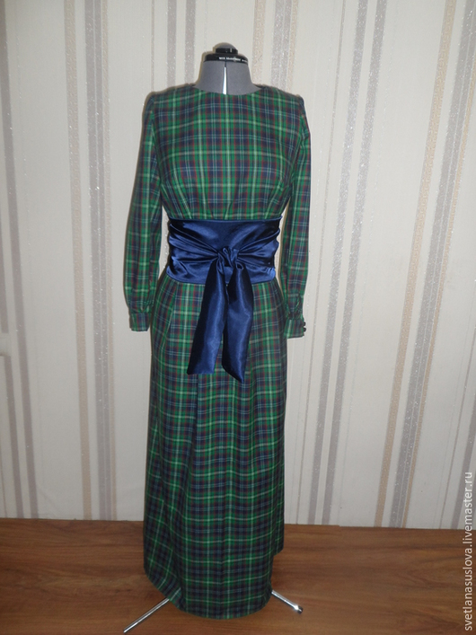 """Платья ручной работы. Ярмарка Мастеров - ручная работа. Купить Платье """"Шотландка"""". Handmade. Разноцветный"""