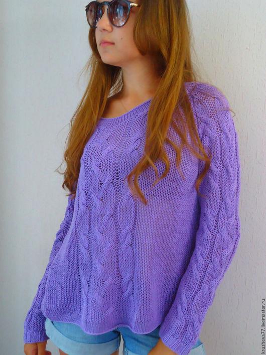 Кофты и свитера ручной работы. Ярмарка Мастеров - ручная работа. Купить Из 100% хлопка пуловер 44-46 размера. Handmade.