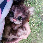 Куклы и игрушки handmade. Livemaster - original item Bengal kitten (Teddy-natural). Handmade.