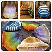 Для дома и интерьера ручной работы. Ярмарка Мастеров - ручная работа Подарок, Банные шапки, 100% шерсть. Handmade.