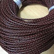 Шнуры ручной работы. Ярмарка Мастеров - ручная работа Шнур кожаный плетёный ,3 мм, бордовый. Handmade.