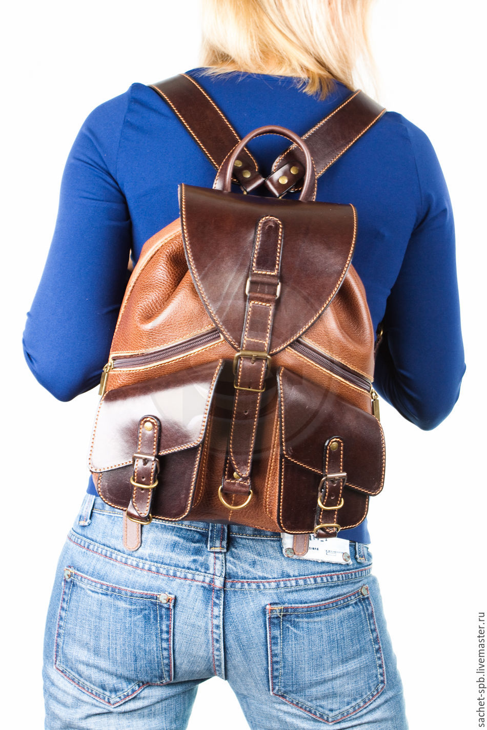 Рюкзак sachet пилот коричневый сток рюкзаки