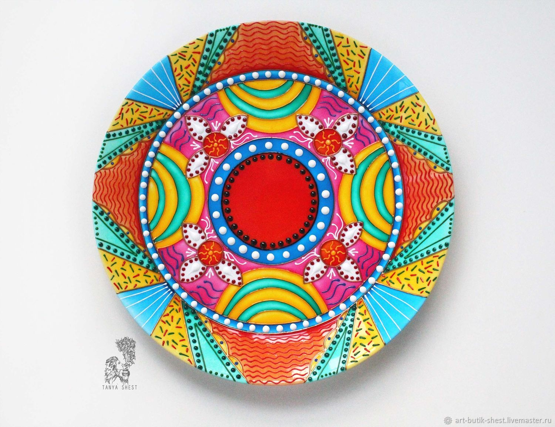 Mandala 'Harmony in the family' - decorative plate on the wall, Decorative plates, Krasnodar,  Фото №1