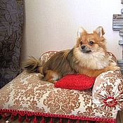 Для домашних животных, handmade. Livemaster - original item Sofa for a small dog or cat Laura. Available in size. Handmade.