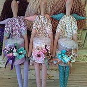 Куклы и игрушки ручной работы. Ярмарка Мастеров - ручная работа Хранительница ватных палочек  тильда ангел фея. Handmade.