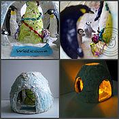 Для дома и интерьера ручной работы. Ярмарка Мастеров - ручная работа Праздник у белых медведей. Handmade.