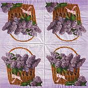 Материалы для творчества handmade. Livemaster - original item Napkins for decoupage Lilac in a basket decoupage print. Handmade.