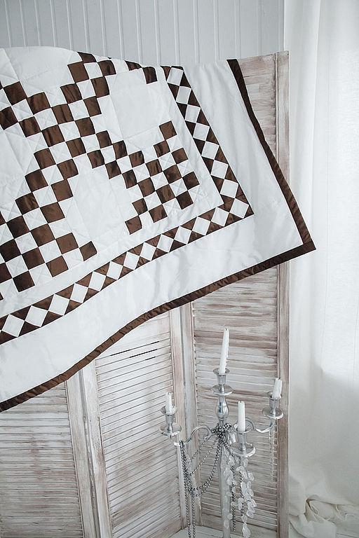 """Текстиль, ковры ручной работы. Ярмарка Мастеров - ручная работа. Купить Лоскутное покрывало в стиле пэчворк """"Ирландский узор"""". Handmade."""