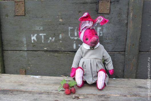 Мишки Тедди ручной работы. Ярмарка Мастеров - ручная работа. Купить Заяц тедди Маргарита. Handmade. Фуксия, стеклянный гранулят