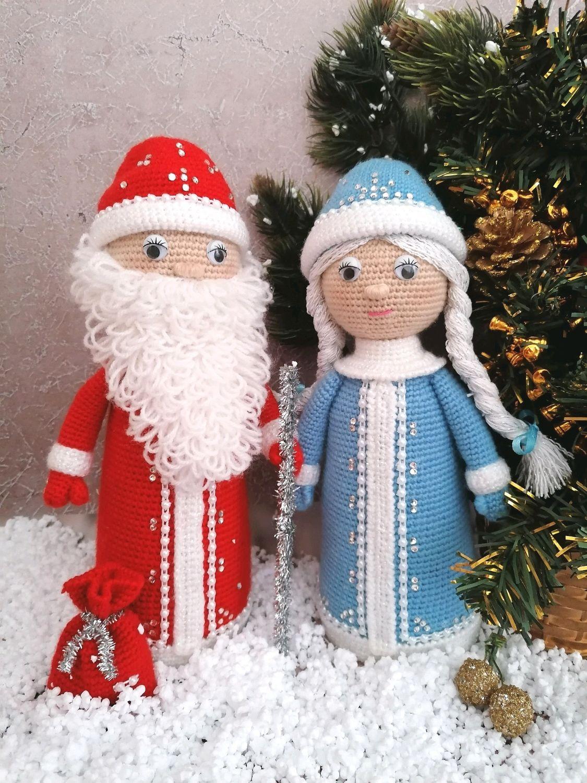 Дед Мороз и Снегурочка, Интерьерная кукла, Александров,  Фото №1