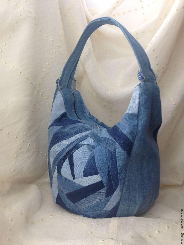 4ec58557f02b Женские сумки ручной работы. Ярмарка Мастеров - ручная работа. Купить Джинсовая  сумка-рюкзак ...