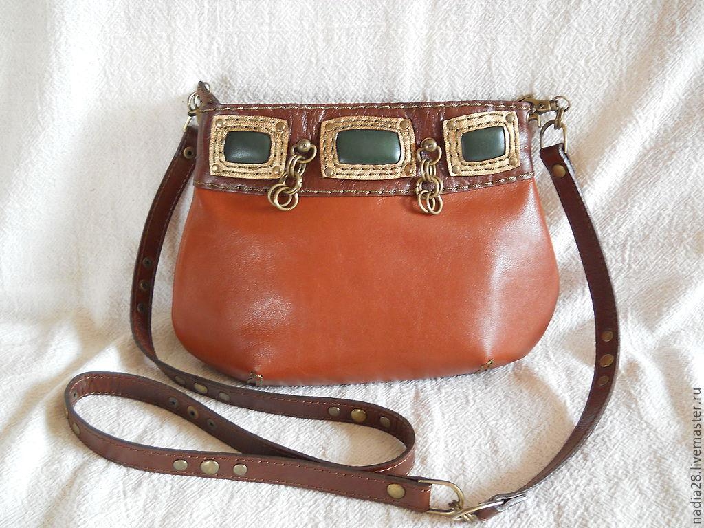 0767a2bc9c6e Женские сумки ручной работы. Ярмарка Мастеров - ручная работа. Купить  Маленькая рыжая сумочка из ...