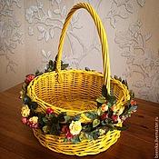 Для дома и интерьера ручной работы. Ярмарка Мастеров - ручная работа Корзина плетеная. Handmade.