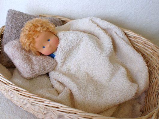 Вальдорфская игрушка ручной работы. Ярмарка Мастеров - ручная работа. Купить Сашенька, 35 см. Handmade. Голубой, текстильная игрушка