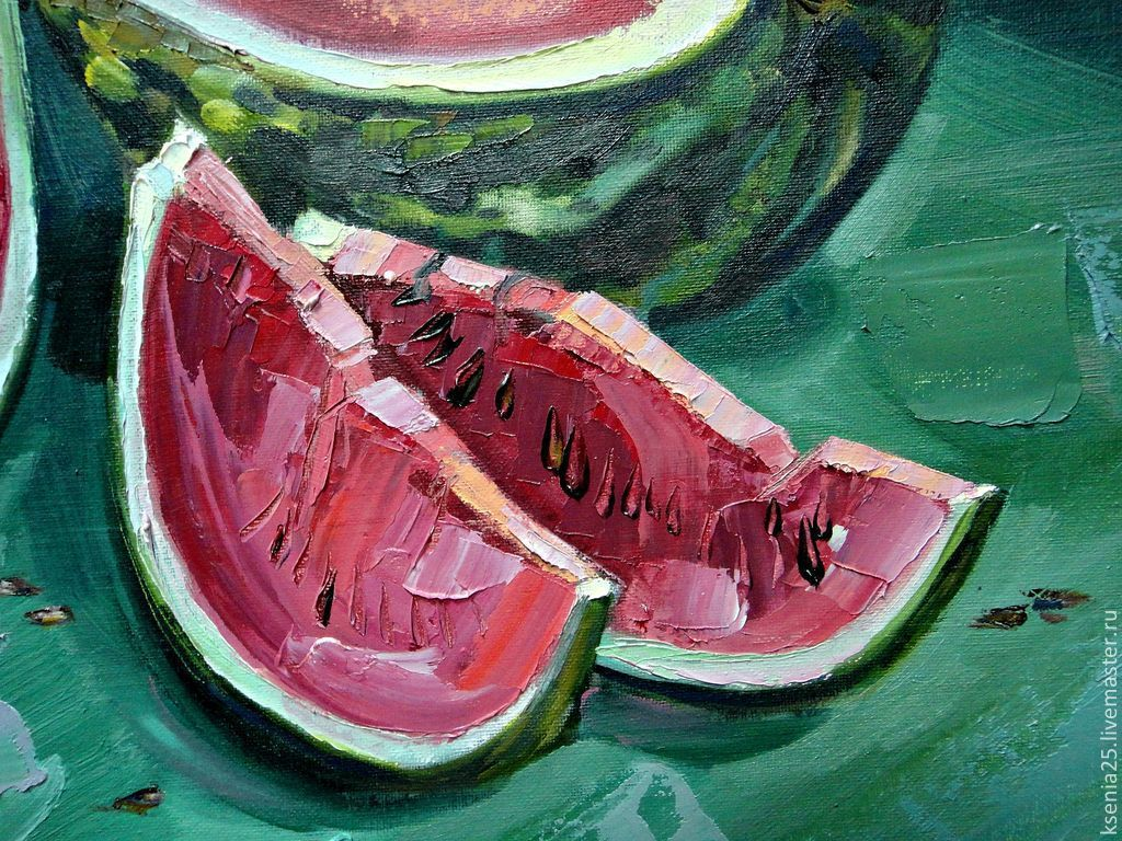 Oil painting Sweet watermelon, Pictures, Rossosh,  Фото №1