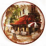 """Посуда ручной работы. Ярмарка Мастеров - ручная работа Тарелка """"Уикенд в Европе"""". Handmade."""