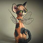 Подарки к праздникам handmade. Livemaster - original item Alex, winged kitty Sphinx. Handmade.
