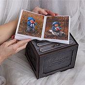 Фотоальбомы ручной работы. Ярмарка Мастеров - ручная работа Фотокороб - Альбомы в коробке. Handmade.