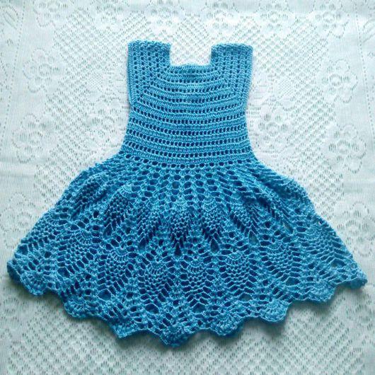 Одежда для девочек, ручной работы. Ярмарка Мастеров - ручная работа. Купить Платье для девочки ажурное летнее. Handmade. Платье летнее