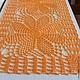 """Текстиль, ковры ручной работы. Ярмарка Мастеров - ручная работа. Купить Дорожка на стол, комод """"Оранжевое настроение"""". Handmade."""
