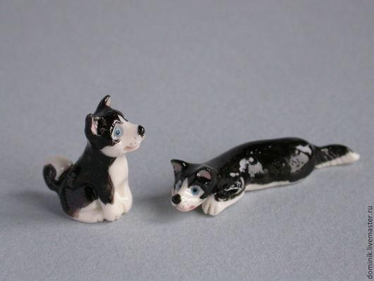Миниатюра ручной работы. Ярмарка Мастеров - ручная работа. Купить Фигурки собак. Handmade. Собаки, фигурка, авторский фарфор