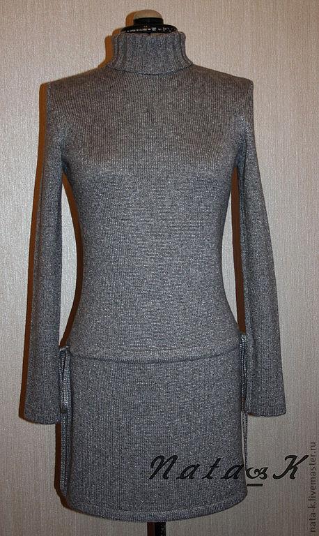 """Платья ручной работы. Ярмарка Мастеров - ручная работа. Купить Платье """"стального"""" цвета. Handmade. Серый, воротник гольф"""