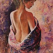Картины и панно handmade. Livemaster - original item The picture with the girl Femininity oil painting. Handmade.
