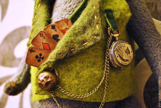 Мишки Тедди ручной работы. Ярмарка Мастеров - ручная работа. Купить Mr. Poker. Handmade. Серый, мишка в подарок