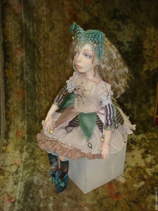 """Коллекционные куклы ручной работы. Ярмарка Мастеров - ручная работа. Купить авторская кукла """" Николь"""". Handmade. Бледно-розовый"""