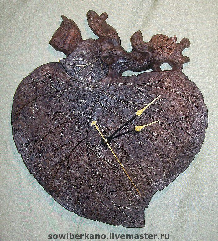Ceramic Wall Clock Birch Leaf Shop Online On Livemaster With