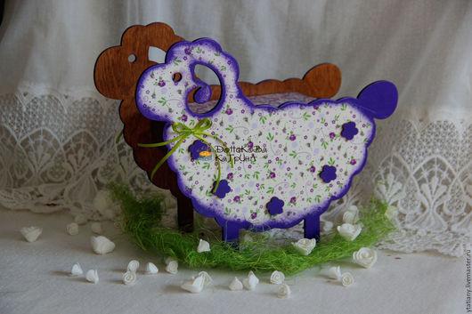 """Подарки на Пасху ручной работы. Ярмарка Мастеров - ручная работа. Купить Короб овечка """"Цветочная"""". Handmade. Тёмно-фиолетовый, конфетница"""