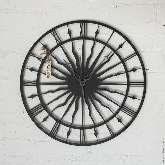 """Часы для дома ручной работы. Ярмарка Мастеров - ручная работа. Купить Часы настенные 45см """"Vana Tallinn"""" черные. Handmade."""