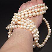 Материалы для творчества handmade. Livemaster - original item Natural cream pearl beads AAA grade. Handmade.