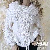 Одежда handmade. Livemaster - original item Knitted white sweater