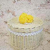 Шкатулки ручной работы. Ярмарка Мастеров - ручная работа Шкатулка плетёная из бумажной лозы. Handmade.