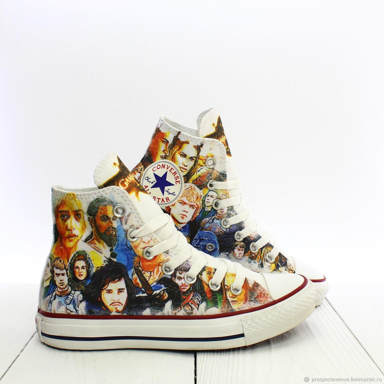 Обувь ручной работы. Ярмарка Мастеров - ручная работа. Купить Высокие кеды  Converse Игра Престолов ... adb8c60b1632c