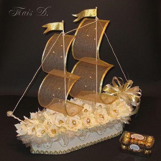Подарки на свадьбу ручной работы. Ярмарка Мастеров - ручная работа. Купить Свадебный корабль. Handmade.