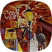 Для дома и интерьера ручной работы. Ярмарка Мастеров - ручная работа Вечерний город. Handmade.